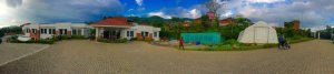 Panorama shot of the SIRC facility in the Saanga Hills.  Photo credit Dr Christine Groves