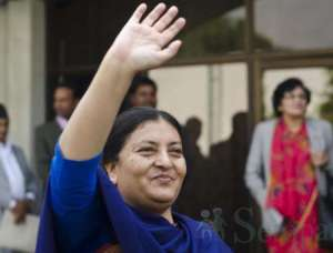 Bidhya Devi Bhandari, Nepal's first female Head of State. Photo credit Setopati