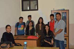 SIRC's all-talented Admin team.  I guess it was only the ladies who dressed up for Dashain.  C'mon guys!  Photo credit SIRC