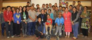 A group photo of all who took part in the celebration of OT Day at SIRC.