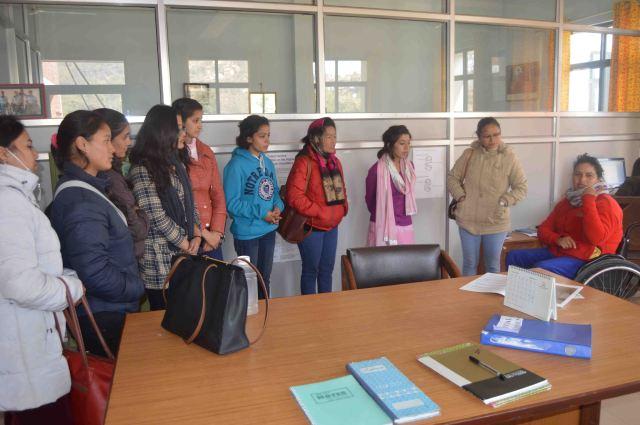BMKF scholars with Sonika Dhakal: Saraswoth Adhikari (Public Heath), Lali Kumari Sunuwar (Nursing), Rebika Bhandhari (Nursing), Nimiska Panday (Law), Anisha Gautam (Law), Lhamu Sherpa (Education), Prabha Bohara (Nursing), Chadani Shrestha (Business Administration)