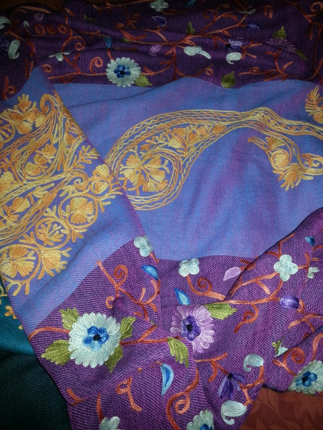 Hand embroidered Nepali pashmina