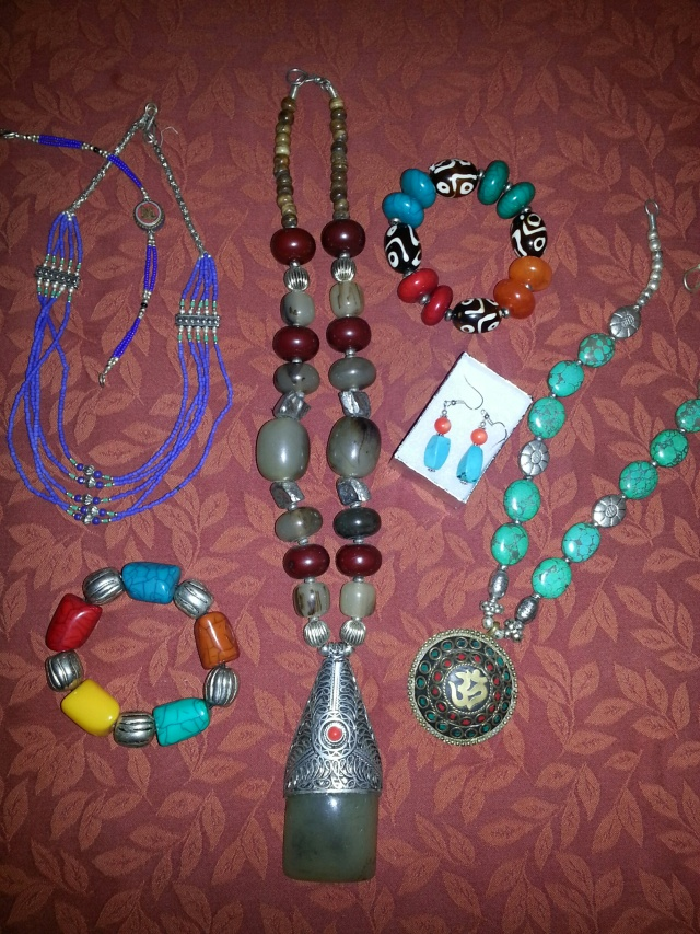 Selection of Nepali jewellery