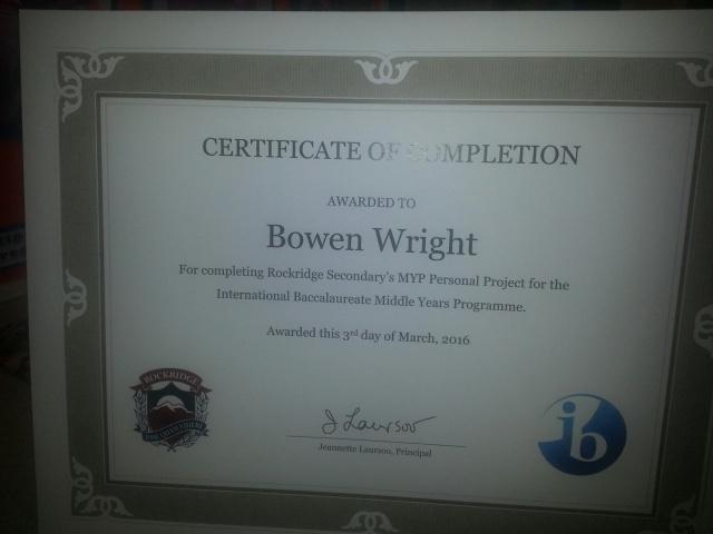 Bowen certificate