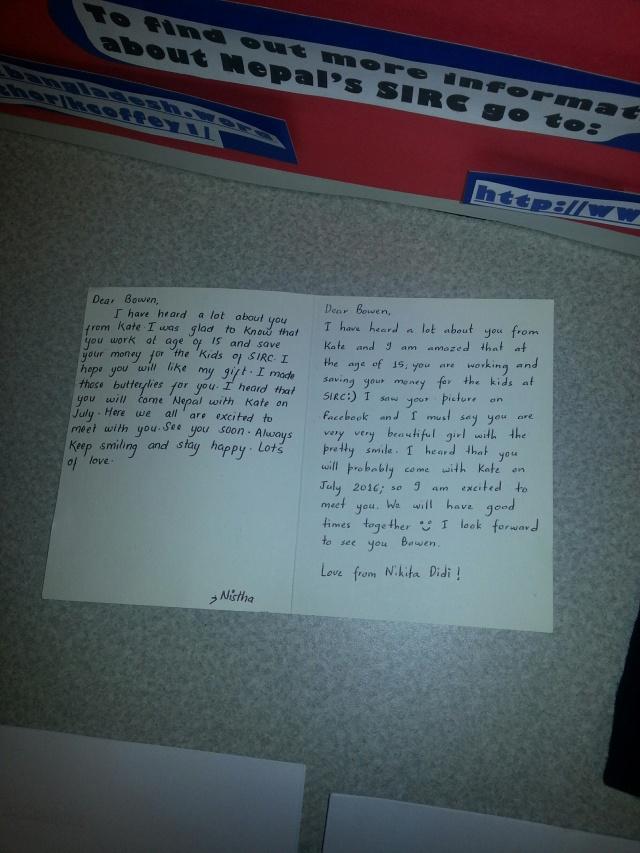 Bowen thank you card