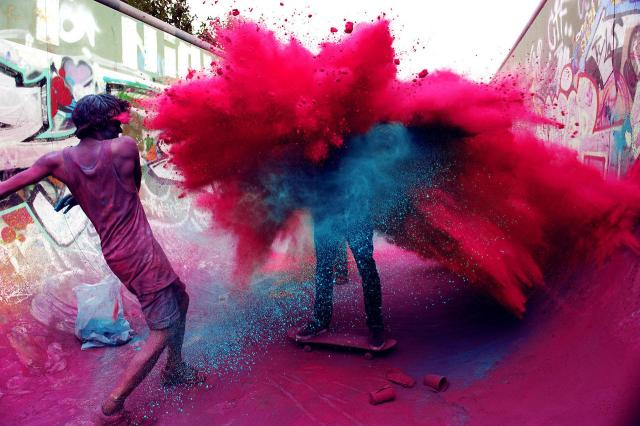 Holi is really bedlam and you cannot walk safely down the street without being doused with coloured water or dry powder. Only thing to so is get with the program, wear clothes that are throwaway and join in in the fun!