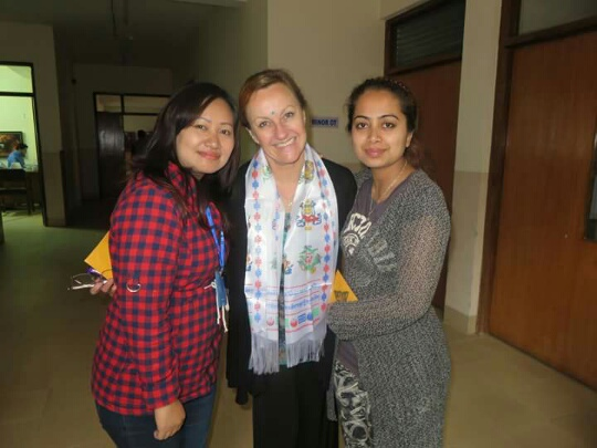 From left: Chanda, Fi and Mandira
