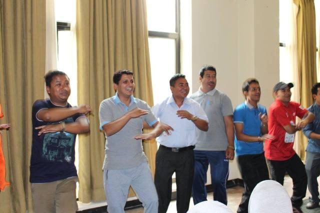 Dipesh team dancing