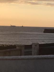 It sure looks like a plane has landed on the ocean - doesn't it? Photo credit Waterfront House Enniscrone.