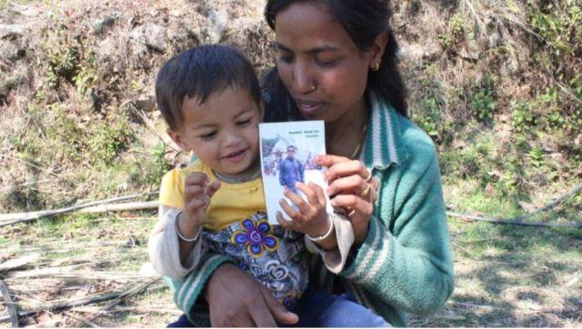 Bishnu Pande with her daughter Ayusha. Photo credit Laura Spero.