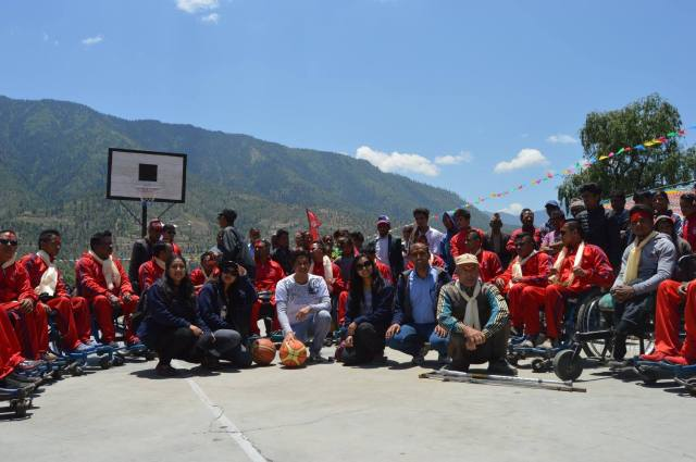 Nepal's wheelchair basketball team in Jumla