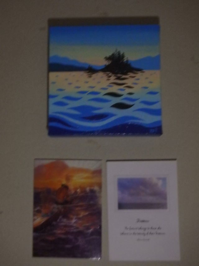 A little piece of Bowen Island here in Banepa, compliments of my family who commissioned this piece by Art by Di. The other two are meaningful cards I received just before I left (Bev and Carolyn). PS Sorry for the bad photo, it was taken in the dark, should have taken it earlier