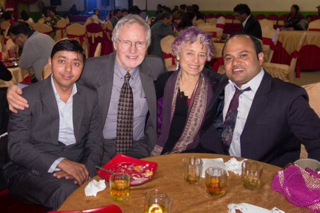 Drs Peter & Claire with Dr Prakash (l) and Dr Raju (r).  Photo credit Dr Peter Wing