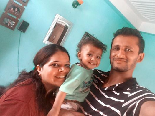 Family photo of Shree, his wife Angella and recently turned 1-year old daughter the beautiful Sanskriti. Photo Credit: Shree Krishna Dhital