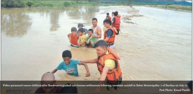 kids rescue flood