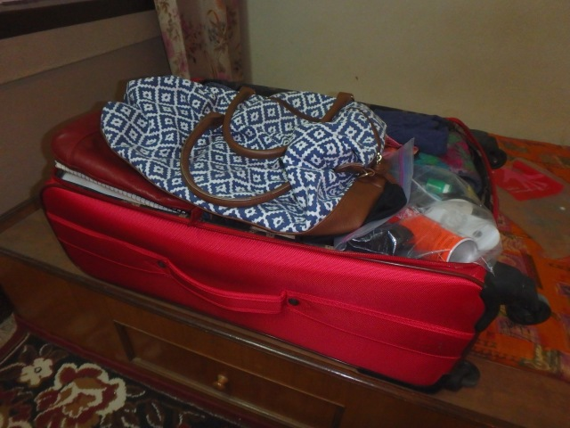 My bag is packed and I am ready to go. Only one bag for 9 months .... it helps that I no longer need winter clothes :-)