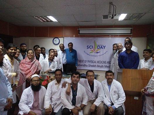 Dr Taslim Uddin and team at the Department of Physical Medicine and Rehabilitation (PMR) at Bangabandhu Sheikh Mujib Medical University (BSMMU), Dhaka, Bangladesh.