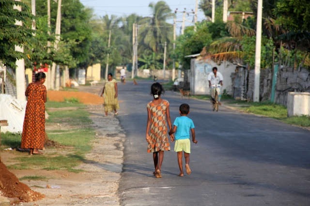 Typical road in Jaffna
