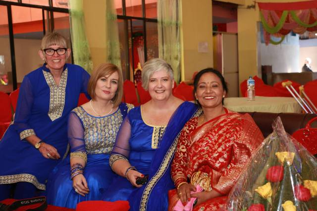 The Irish lassies with Sangeeta. From left Cathy, Dr Katrina, myself and Sangeeta