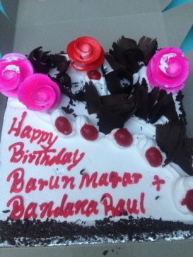 Bday cake Barun and Bandana