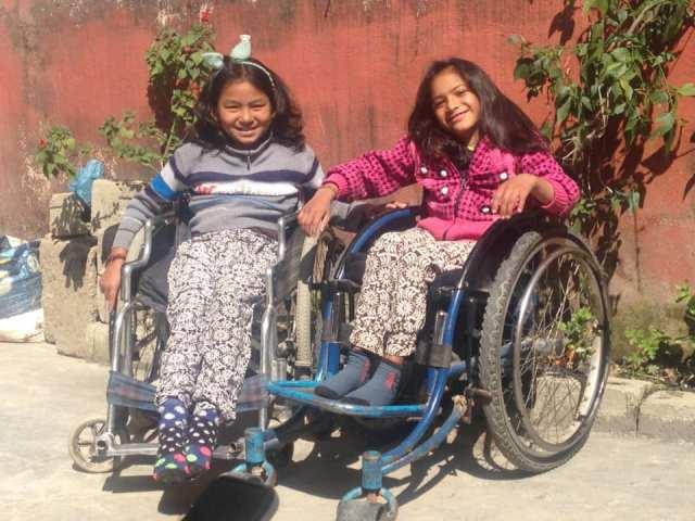 Soniya and Bandana enjoying sunshine
